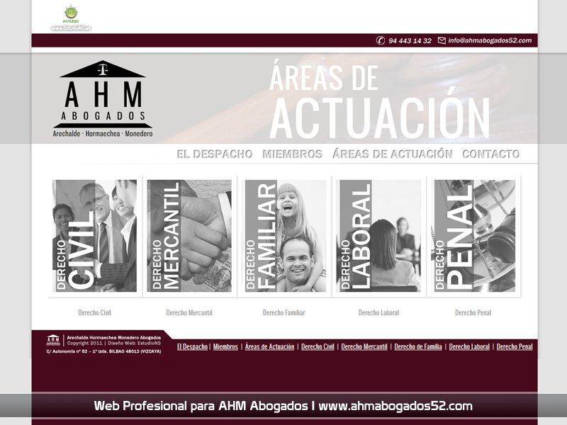 Logotipo Y Web Profesional Para Ahm Abogados Estudio Ns